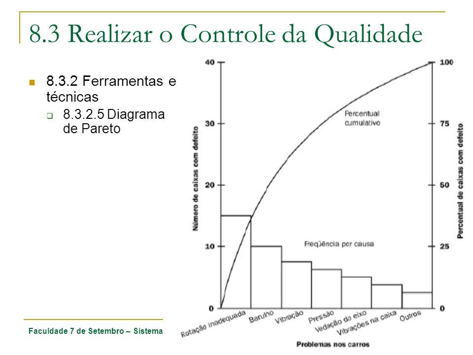 Faculdade 7 de Setembro – Sistemas de Informação -Gerenciamento de Projetos – Ciro Coelho 55 8.3 Realizar o Controle da Qualidade 8.3.2 Ferramentas e