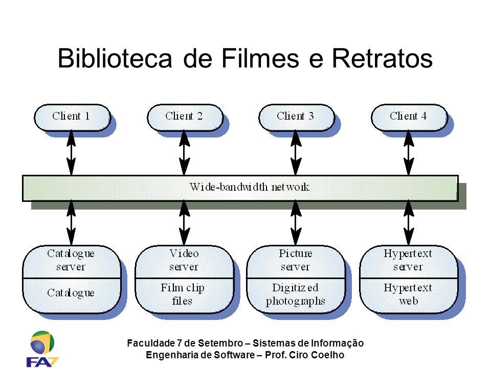 Faculdade 7 de Setembro – Sistemas de Informação Engenharia de Software – Prof. Ciro Coelho Biblioteca de Filmes e Retratos