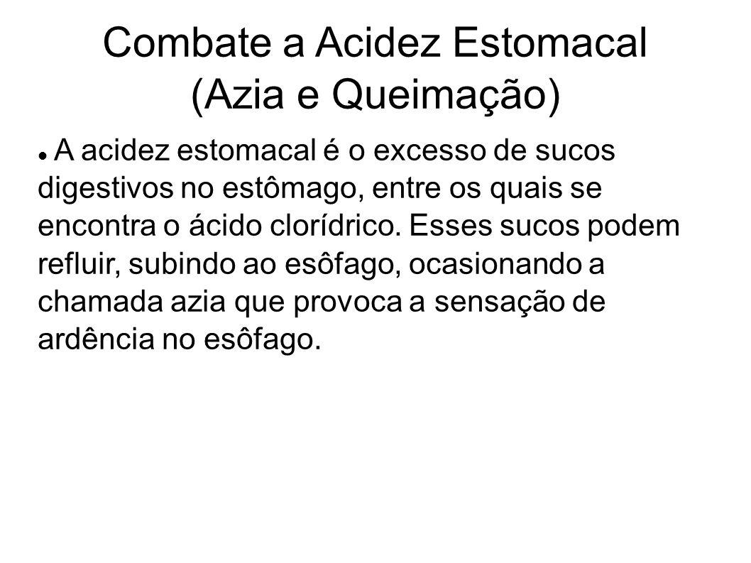 Combate a Acidez Estomacal (Azia e Queimação) A acidez estomacal é o excesso de sucos digestivos no estômago, entre os quais se encontra o ácido clorí