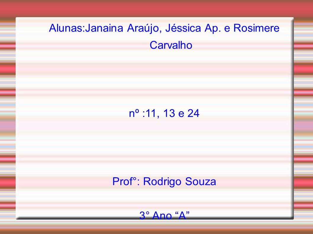 Alunas:Janaina Araújo, Jéssica Ap.