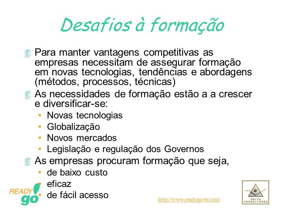 http://www.readygo-br.com Desafios à formação 4 Para manter vantagens competitivas as empresas necessitam de assegurar formação em novas tecnologias,
