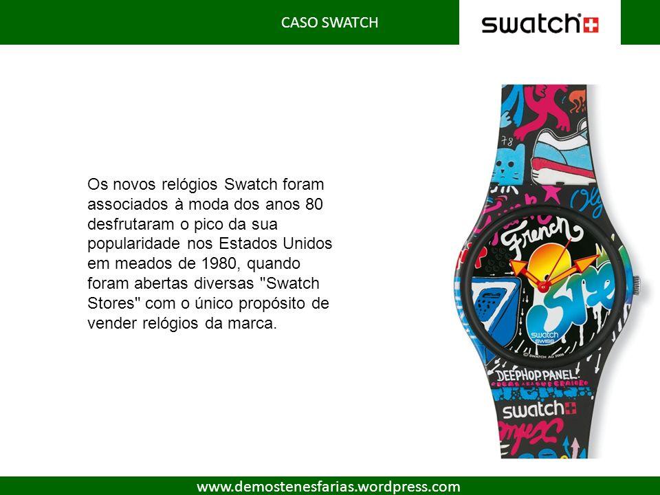 Os novos relógios Swatch foram associados à moda dos anos 80 desfrutaram o pico da sua popularidade nos Estados Unidos em meados de 1980, quando foram