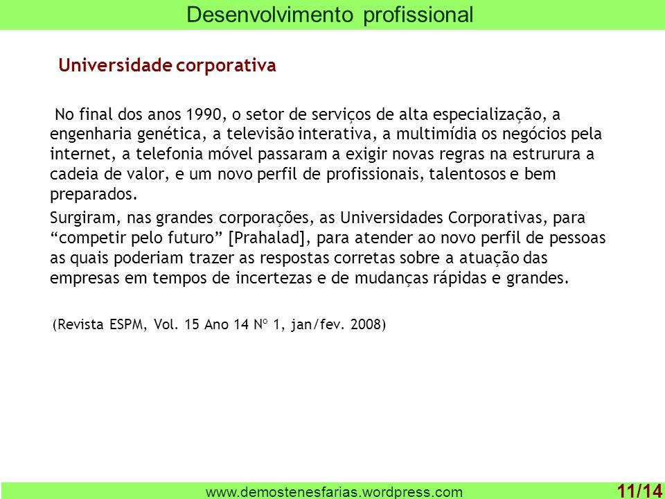 Universidade corporativa No final dos anos 1990, o setor de serviços de alta especialização, a engenharia genética, a televisão interativa, a multimíd