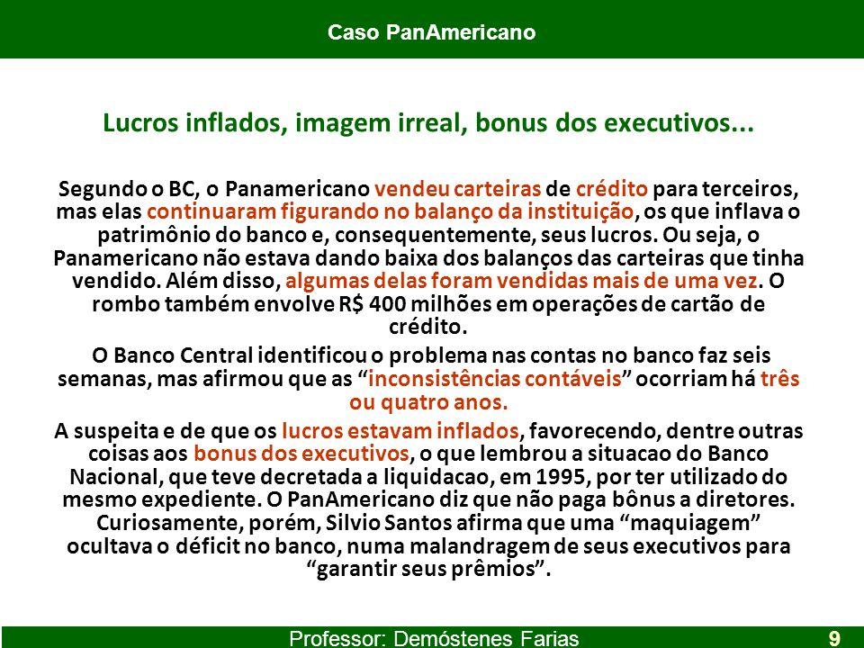 Lucros inflados, imagem irreal, bonus dos executivos... Segundo o BC, o Panamericano vendeu carteiras de crédito para terceiros, mas elas continuaram