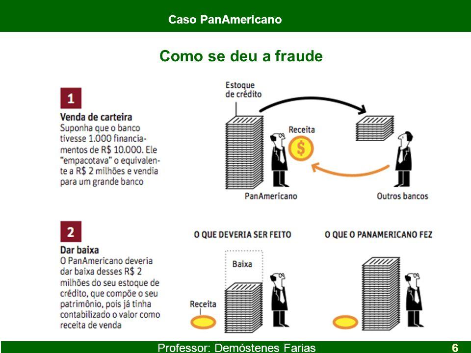 Professor: Demóstenes Farias Caso PanAmericano 6 Como se deu a fraude Caso PanAmericano