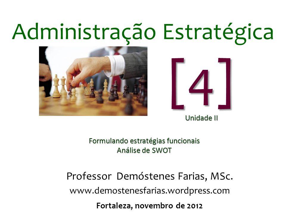 Administração Estratégica Professor Demóstenes Farias, MSc.