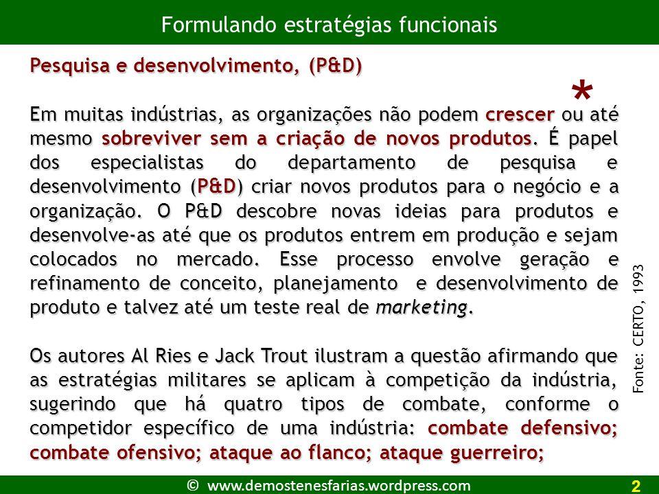 © www.demostenesfarias.wordpress.com Recursos Físicos 1 A empresa conta com TI atualizada, avançada na medida de sua necessidade .