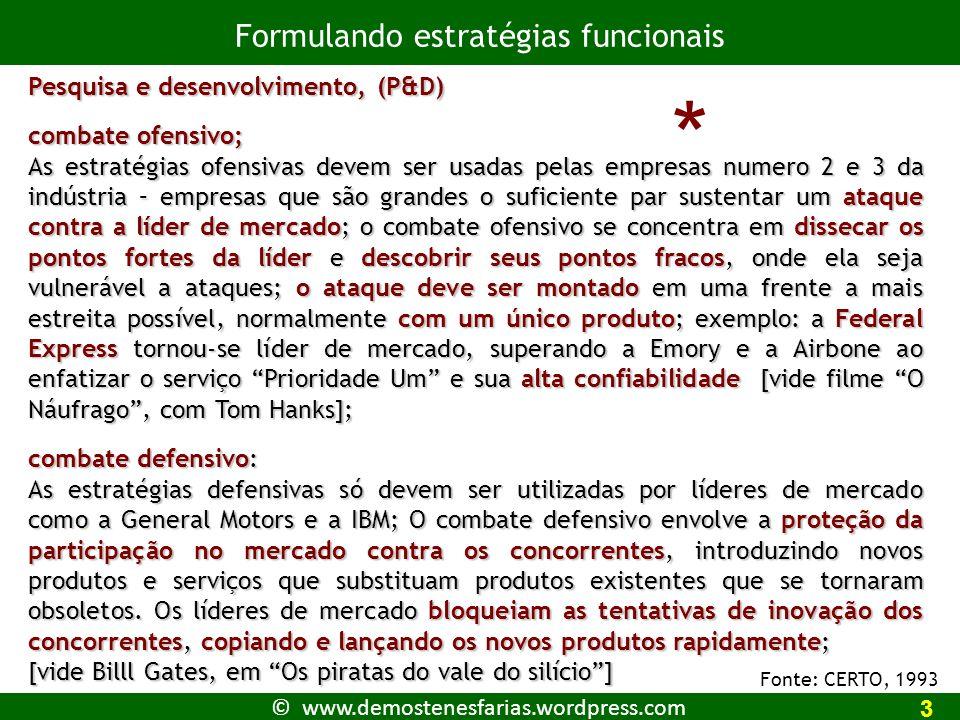 © www.demostenesfarias.wordpress.com Reflita sobre as perguntas a seguir, aplicando à sua empresa, para conhecer os seus FCSs: [1] Porque os clientes negociam conosco .