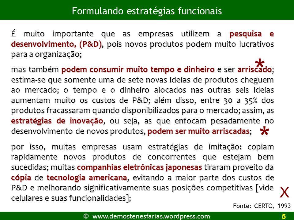 © www.demostenesfarias.wordpress.com Referências CERTO, Samuel C.