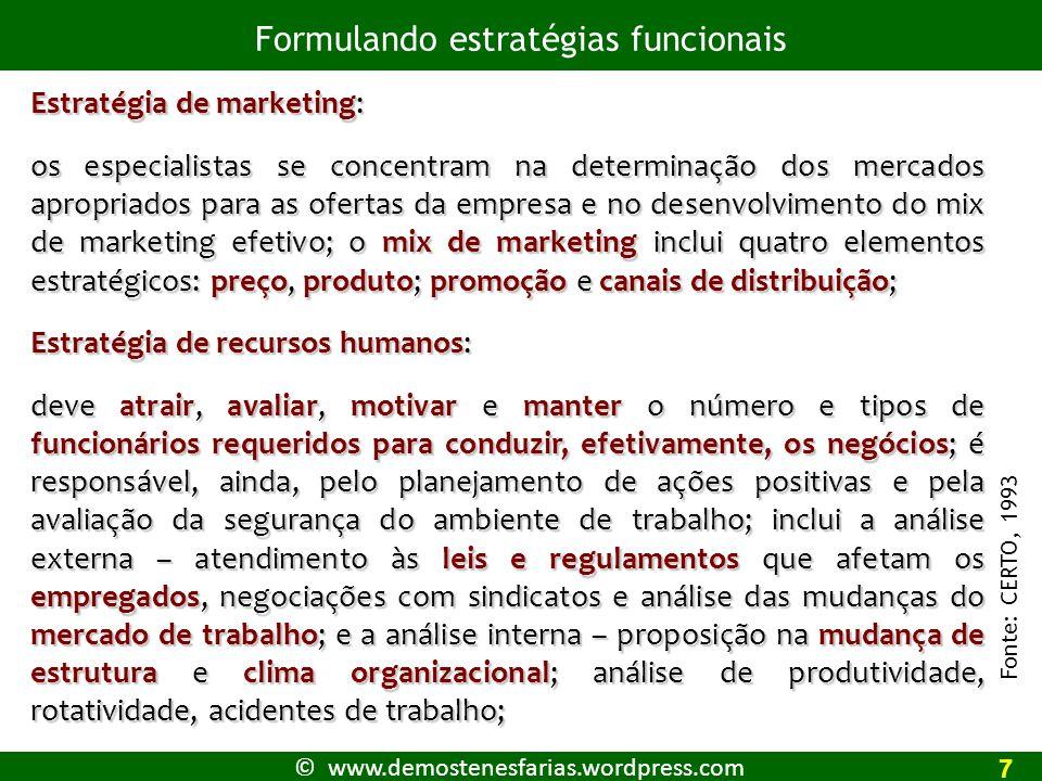 © www.demostenesfarias.wordpress.com A matriz de SWOT e a avaliação estratégica 41 Fonte: LOBATO,2003.