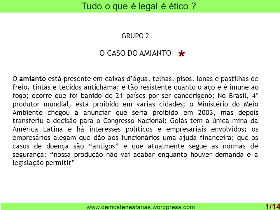 www.demostenesfarias.wordpress.com O que é ética .