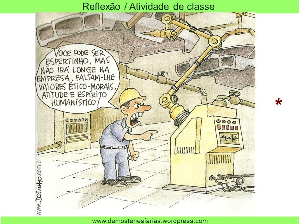 Reflexão / Atividade de classe www.demostenesfarias.wordpress.com *