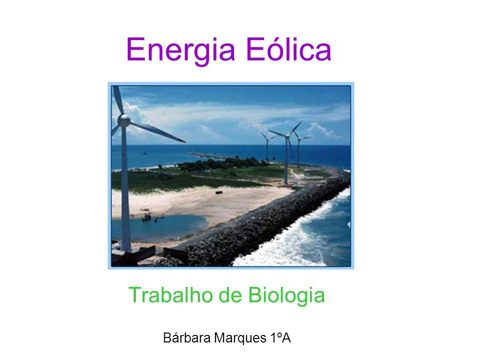 Significado da palavra eólica A energia eólica é a energia que provém do vento.