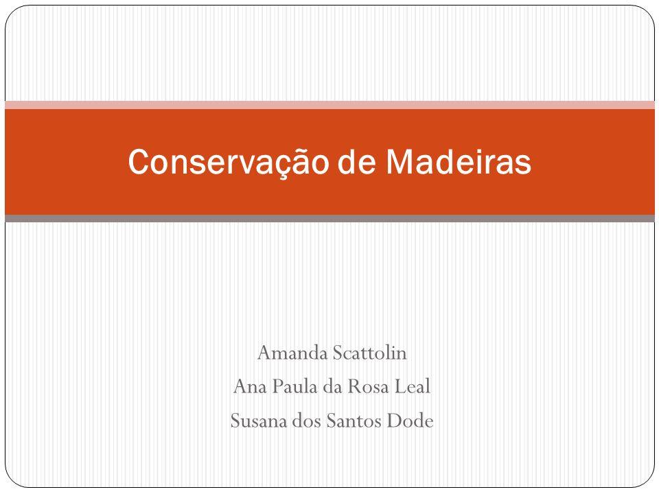 Amanda Scattolin Ana Paula da Rosa Leal Susana dos Santos Dode Conservação de Madeiras