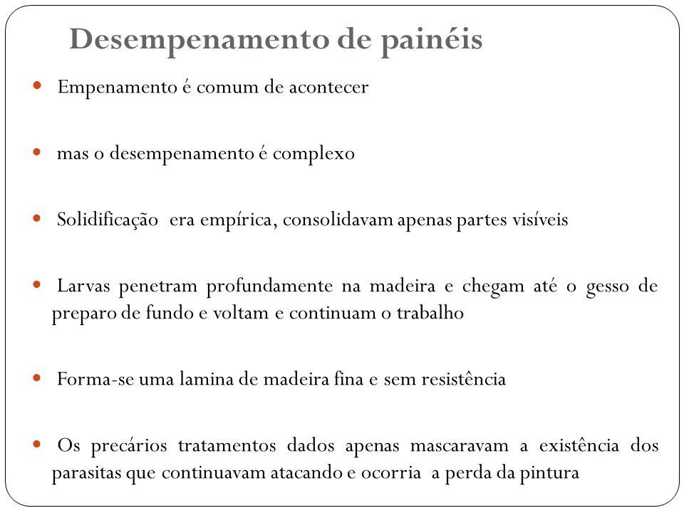 Desempenamento de painéis Empenamento é comum de acontecer mas o desempenamento é complexo Solidificação era empírica, consolidavam apenas partes visí