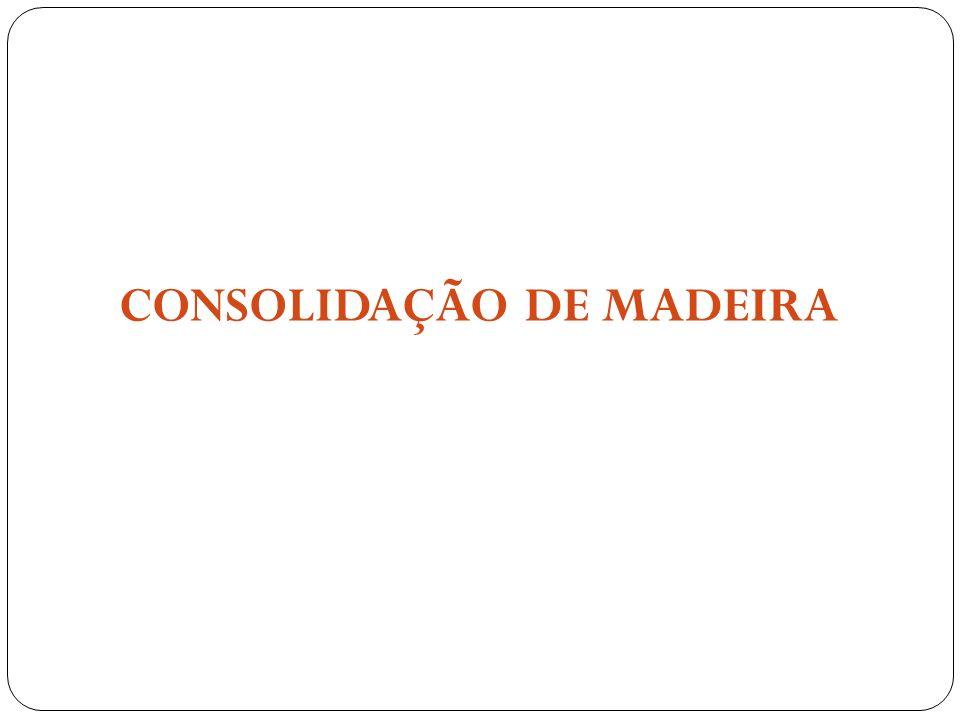 Fases da Conservação de Madeira Submersa 1.Uso de material que consolide e remova a água.