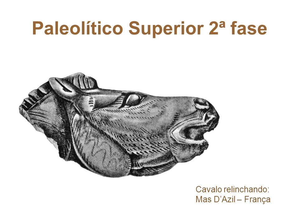 Paleolítico Superior 2ª fase Cavalo relinchando: Mas DAzil – França