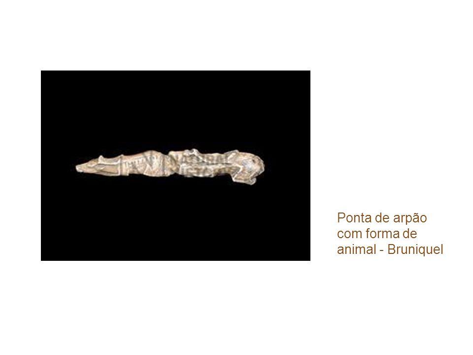 Ponta de arpão com forma de animal - Bruniquel