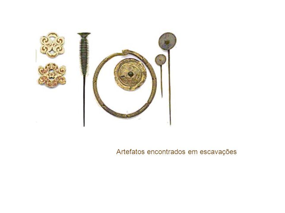 Artefatos encontrados em escavações