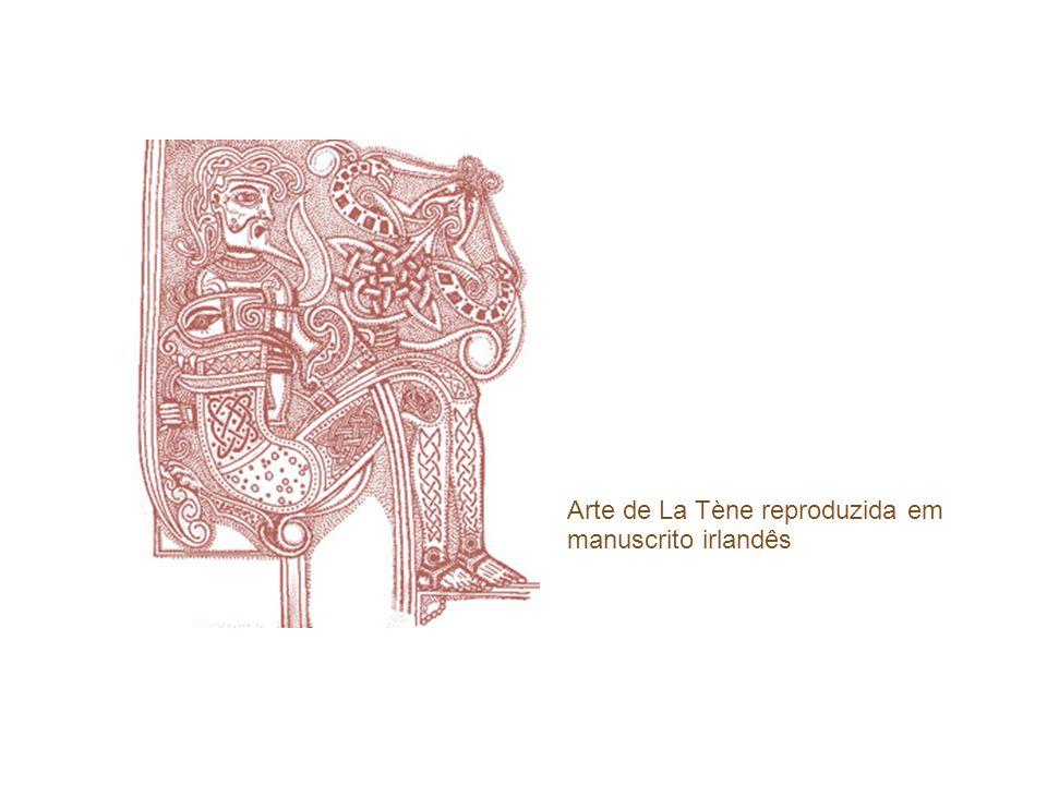 Arte de La Tène reproduzida em manuscrito irlandês