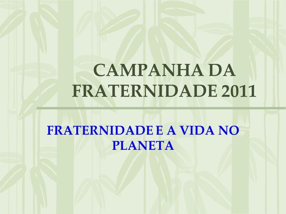 CAMPANHA DA FRATERNIDADE 2011 FRATERNIDADE E A VIDA NO PLANETA