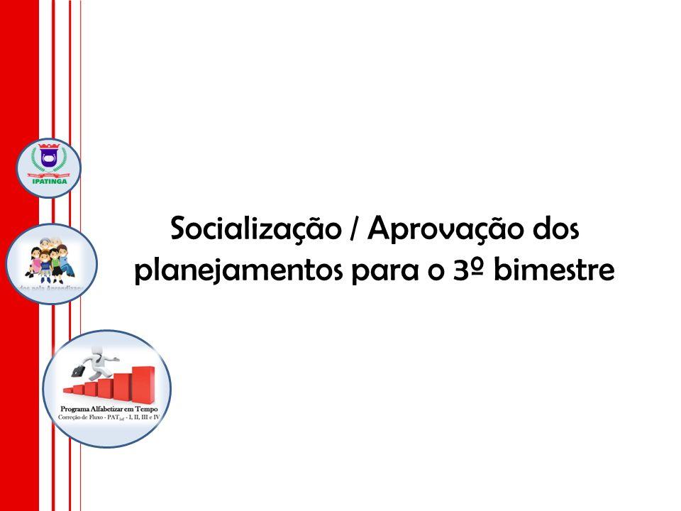Socialização / Aprovação dos planejamentos para o 3º bimestre