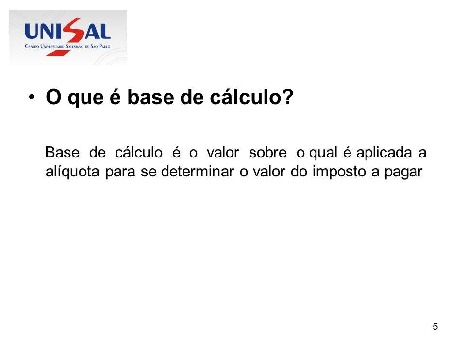 26 Base de cálculo do PIS s/ faturamento A base de cálculo é o faturamento mensal da pessoa jurídica, correspondente a sua receita bruta.