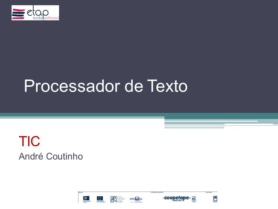 Processador de Texto TIC André Coutinho