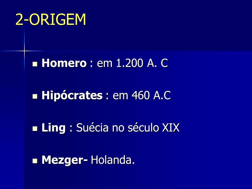 2-ORIGEM Homero : em 1.200 A.C Homero : em 1.200 A.