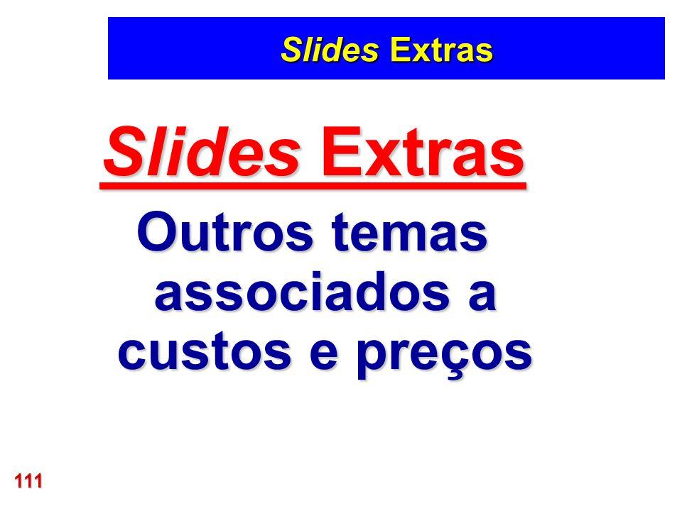 111 Slides Extras Outros temas associados a custos e preços