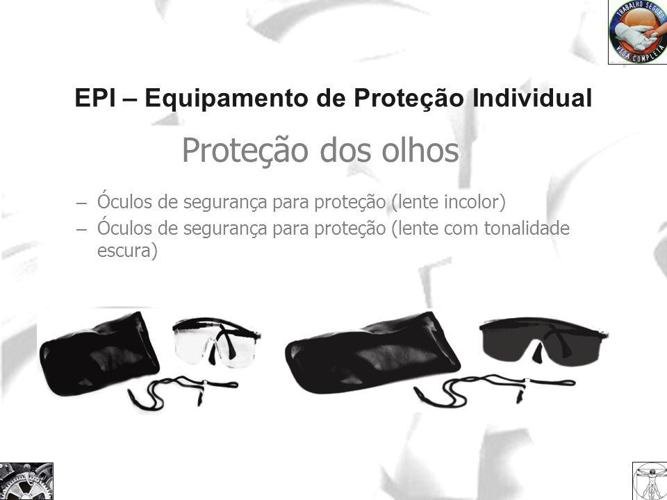 EPI – Equipamento de Proteção Individual Proteção dos olhos – Óculos de segurança para proteção (lente incolor) – Óculos de segurança para proteção (l