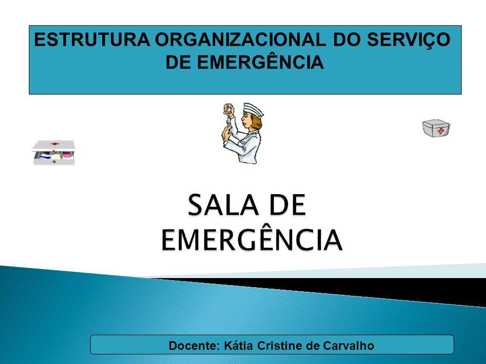 ESTRUTURA ORGANIZACIONAL DO SERVIÇO DE EMERGÊNCIA Docente: Kátia Cristine de Carvalho