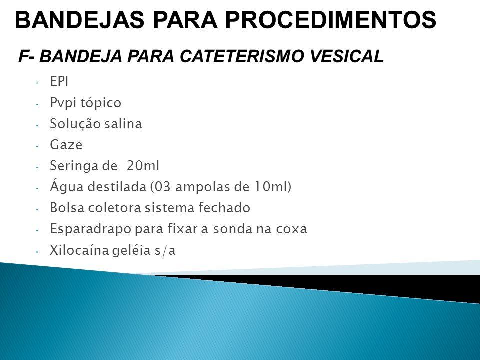 EPI Pvpi tópico Solução salina Gaze Seringa de 20ml Água destilada (03 ampolas de 10ml) Bolsa coletora sistema fechado Esparadrapo para fixar a sonda