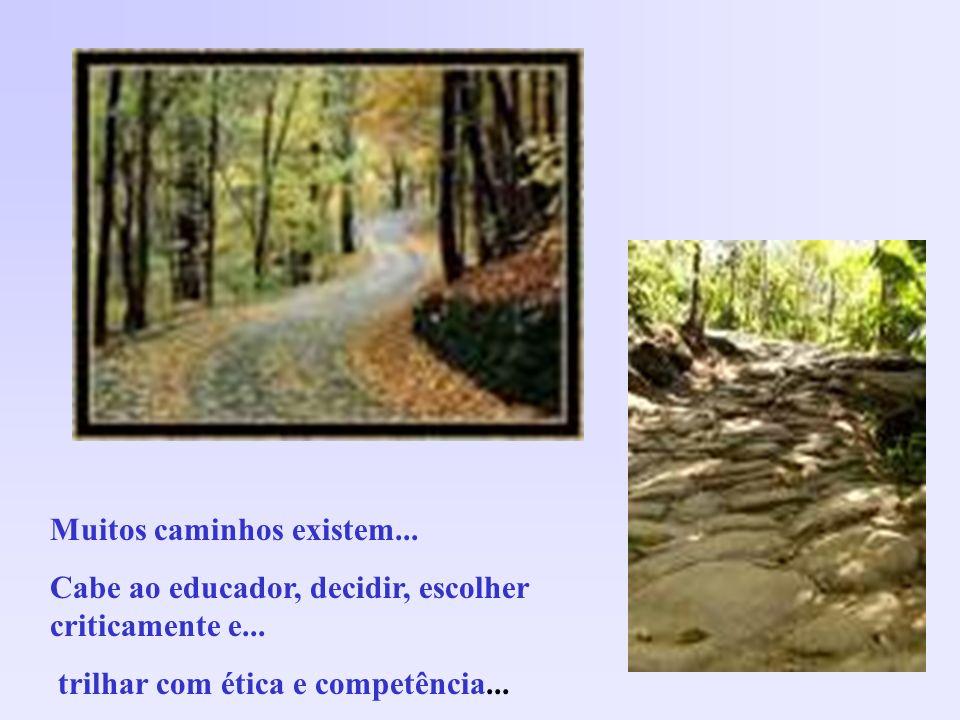 Muitos caminhos existem... Cabe ao educador, decidir, escolher criticamente e... trilhar com ética e competência...