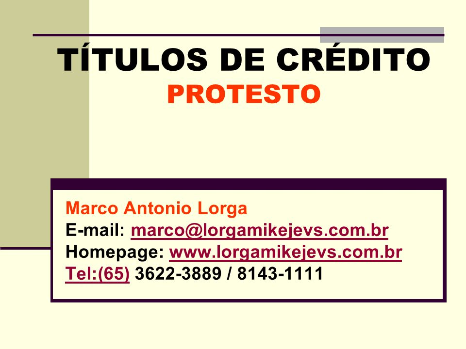 PROTESTO TEMPO DO PROTESTO INTIMAÇÃO (Lei 9.492/1997): Art.
