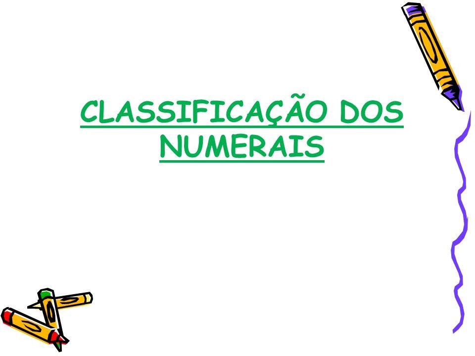 quantidade determinada ordem multiplicação divisão, fração Cardinais: indicam quantidade determinada.