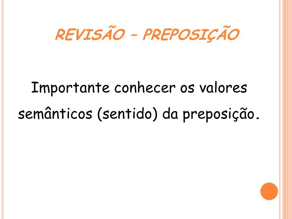 As preposições podem ser: Essenciais – a, ante, até, após, com, contra, de, desde, em, entre, para, perante, por, sem, sob, sobre.