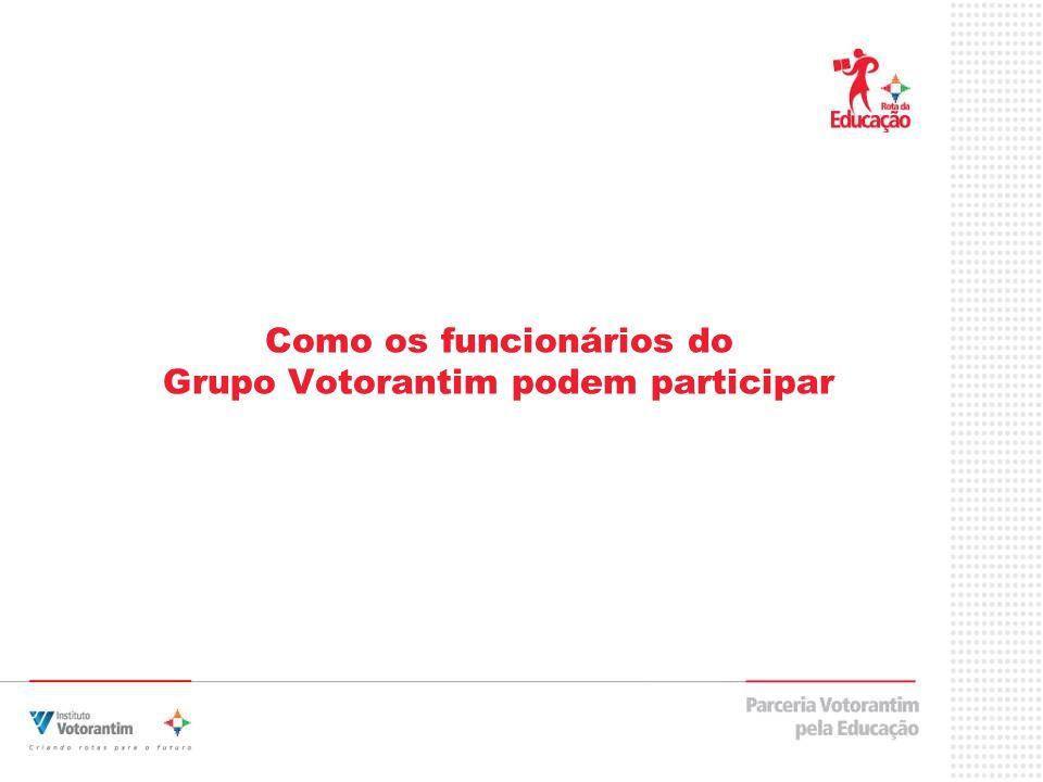 Como os funcionários do Grupo Votorantim podem participar