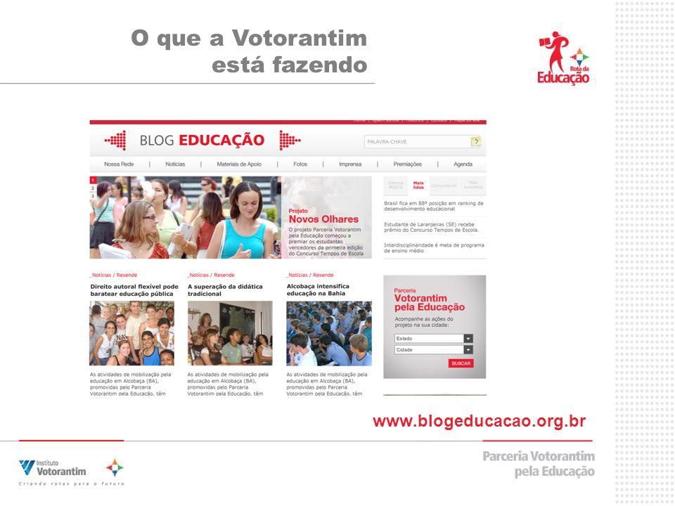 www.blogeducacao.org.br O que a Votorantim está fazendo