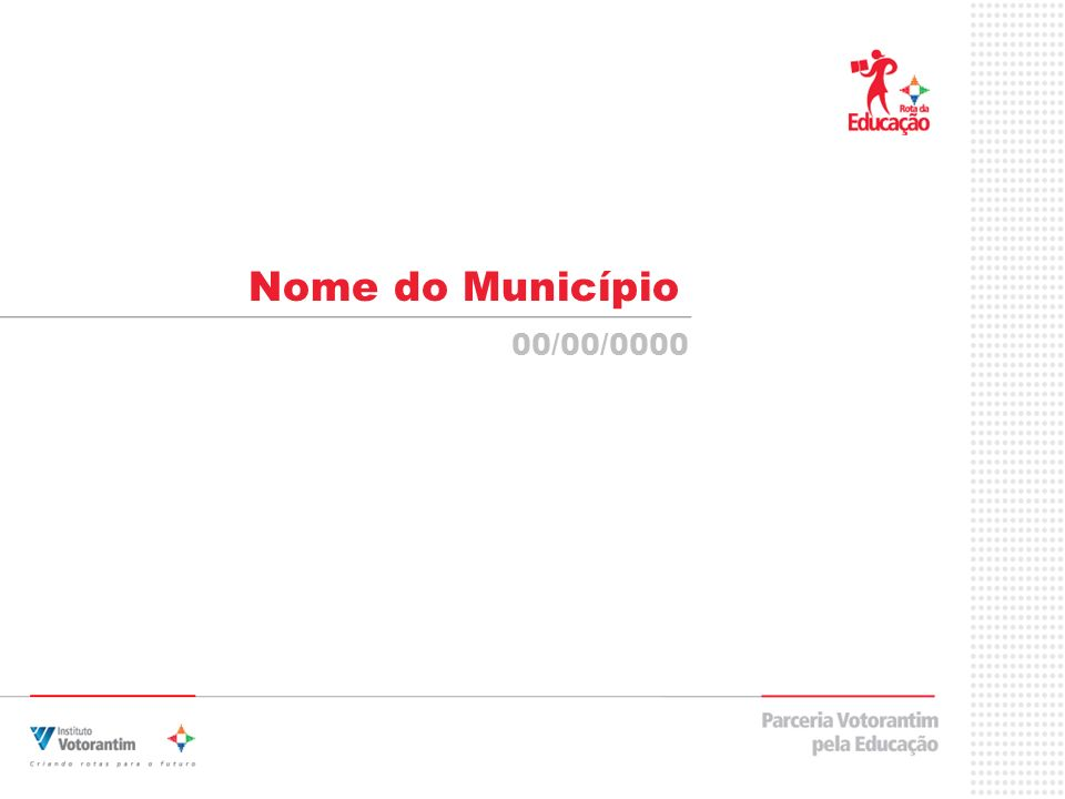 Nome do Município 00/00/0000