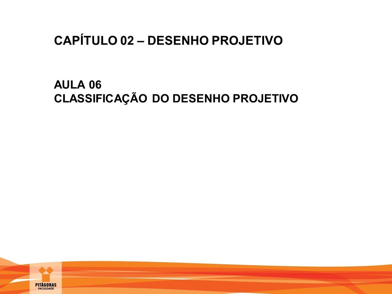 CAPÍTULO 02 – DESENHO PROJETIVO AULA 06 CLASSIFICAÇÃO DO DESENHO PROJETIVO