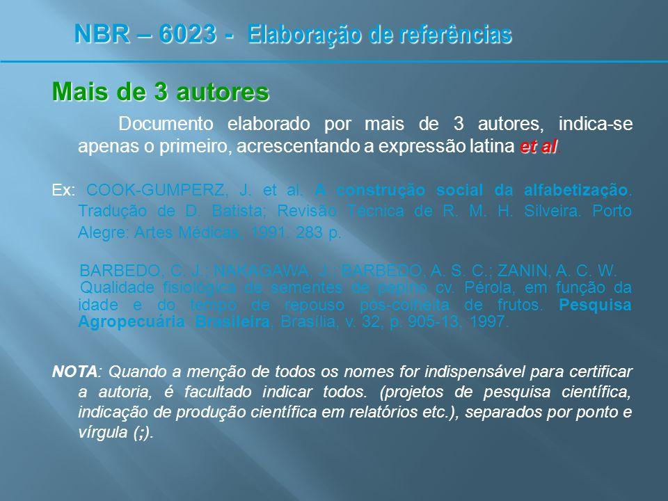 Sobrenome(s) composto(s ) Sobrenome espanhol: adota-se a entrada pelo penúltimo sobrenome Ex: LARA PALMA, H.