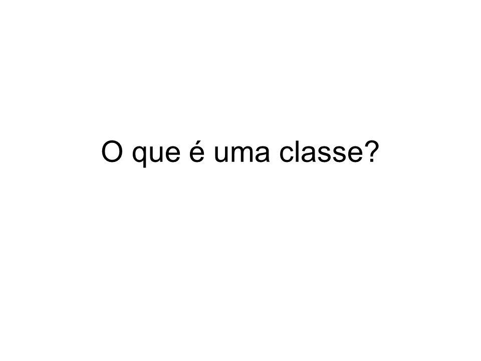 O que é uma classe?