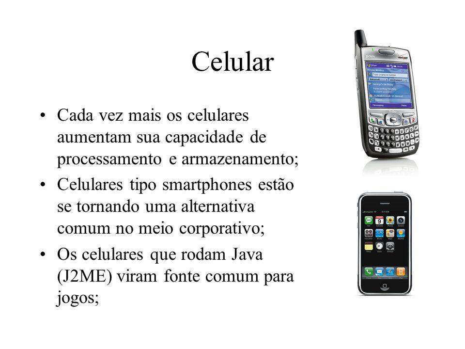 Celular Cada vez mais os celulares aumentam sua capacidade de processamento e armazenamento; Celulares tipo smartphones estão se tornando uma alternat