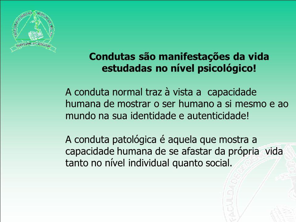 Condutas são manifestações da vida estudadas no nível psicológico! A conduta normal traz à vista a capacidade humana de mostrar o ser humano a si mesm