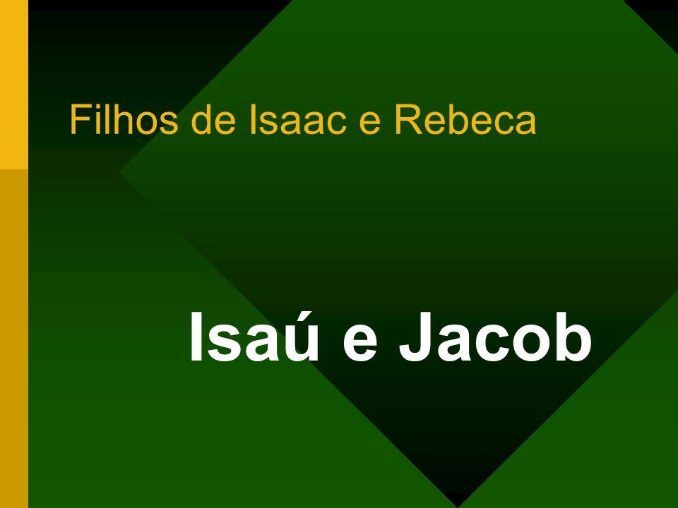 Filhos de Isaac e Rebeca Isaú e Jacob