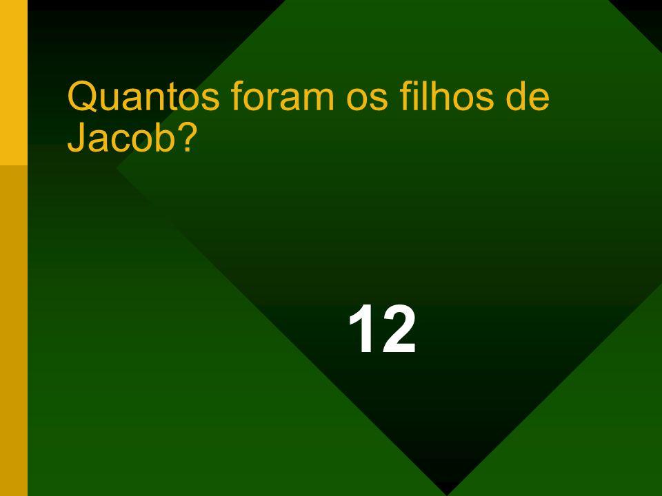 Quantos foram os filhos de Jacob? 12