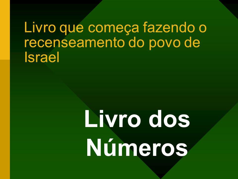 Livro que começa fazendo o recenseamento do povo de Israel Livro dos Números