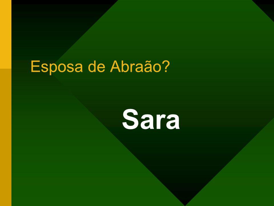 Sara Esposa de Abraão?