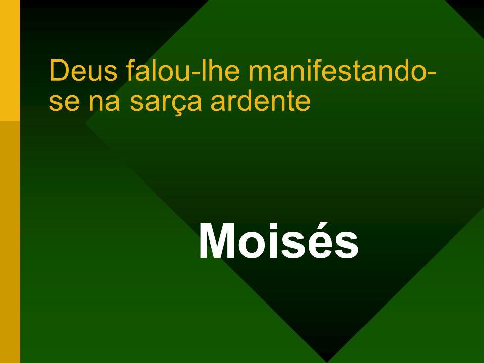 Deus falou-lhe manifestando- se na sarça ardente Moisés